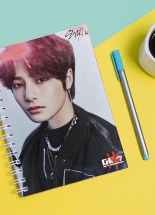 Скетчбук sketchbook для рисования с принтом группа stray kids ян чон ин yang jeong in