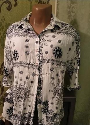 Красивая длинная блуза рубашка