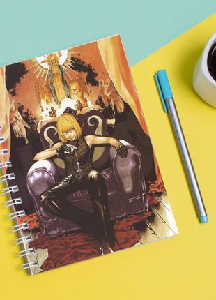 Скетчбук sketchbook для рисования с принтом картина geekland death note