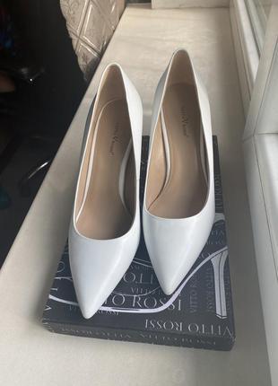 Туфли лодочка свадебные vitto rossi