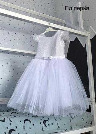 Плаття для дівчинки з пір'їнками