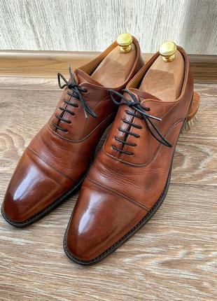 Мужские кожаные коричневые туфли оксфорды philip zepter 8 42