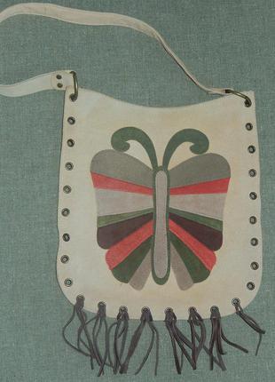 Классная сумочка с бахромой,состояние отличное