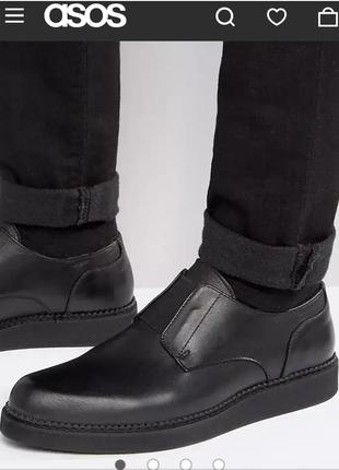 Asos мужские туфли лоферы из натуральной кожи 42  размер