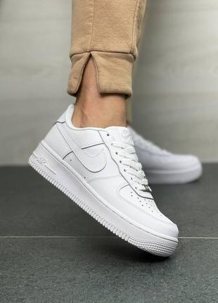 Кожа, nike air force, кроссовки