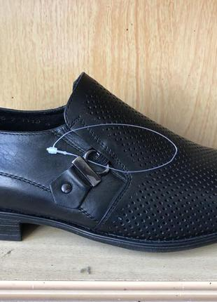 🐜классические туфли летние с перфорацией кожаные1 фото