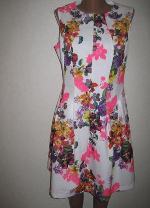 Красивое платье f&f р-р12 цветочный принт