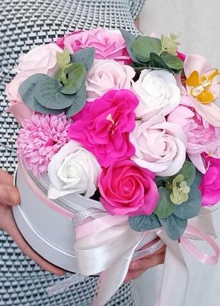 Букет із мильних квітів, букет из мыльных роз, цветы из мыла