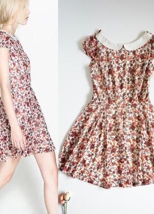 Платье zara ,шифоновое платье,платье ,сарафан