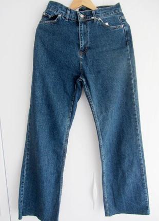 Синие джинсы палаццо, момы. распродажа.6 фото