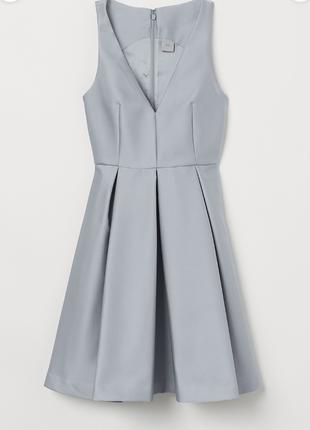 Серое коктейльное платье xs-s