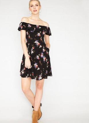 Шикарное платье с воланом и открытыми плечами/плаття/сукня/сарафан
