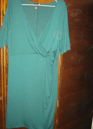 Зеленое платье  h@m mama для беременной и кормления. торг.