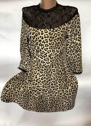 Платье в леопардовый принт zara