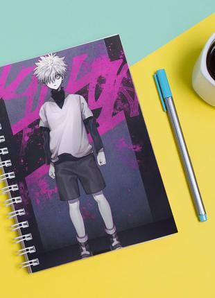 Скетчбук sketchbook для рисования с принтом киллуа золдик-killua zoldyck 2