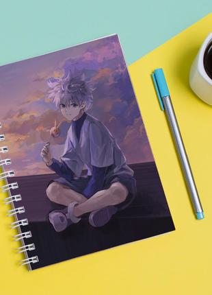 Скетчбук sketchbook для рисования с принтом киллуа золдик-killua zoldyck 3