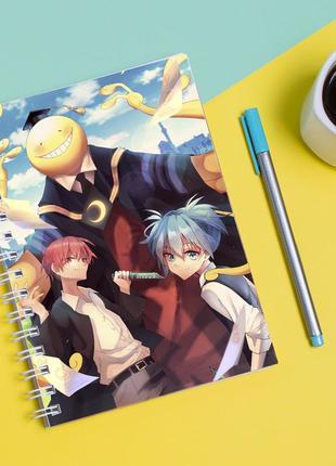 Скетчбук sketchbook для рисования с принтом класс убийц-ansatsu kyoshitsu