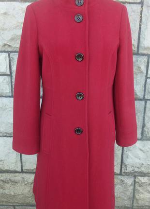 Червоне фірмове строге шерстяне пальто (laura ashley)