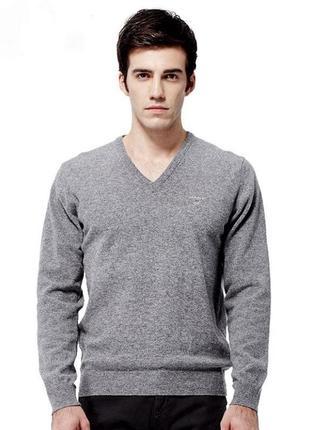 Светр\джемпер gant v-neck wool sweater.