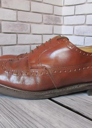 Кожаные туфли броги status