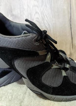 Стильные кроссовки натуральная замшевая кожа + сетка clarks