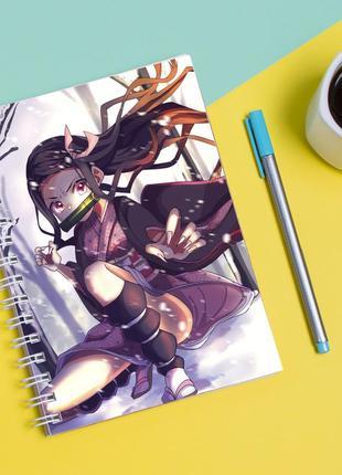 Скетчбук sketchbook для рисования с принтом незуко камад-kamado nezuko 2