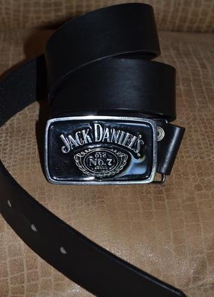 Ремень кожаный jack daniel's (оригинал). абсолютно новый!
