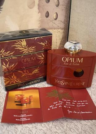 Духи винтажные yves saint laurent opium, тв 60 мл