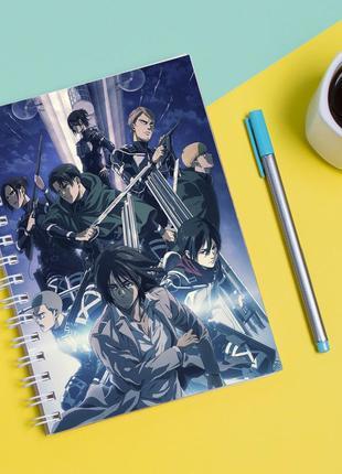 Скетчбук sketchbook для рисования с принтом сериал вторжение титанов - shingeki no kyojin