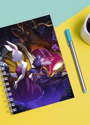 Скетчбук sketchbook для рисования с принтом сериал выдающиеся звери - beastars