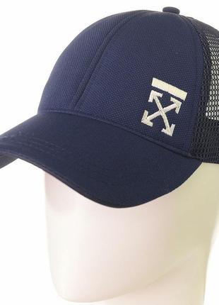 Стильная летняя кепка бейсболка off-white оф вайт мужская женская