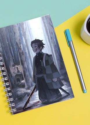 Скетчбук sketchbook для рисования с принтом танджиро камадо-kamado tanjirō