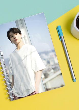 Скетчбук sketchbook для рисования с принтом твой похититель чон чонгук - jungkook jeon
