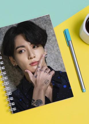 Скетчбук sketchbook для рисования с принтом твой похититель чон чонгук - jungkook jeon 3