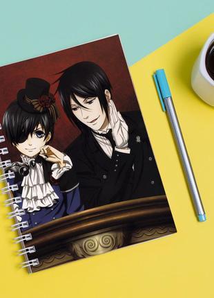 Скетчбук sketchbook для рисования с принтом темный дворецкий-kuroshitsuji 2
