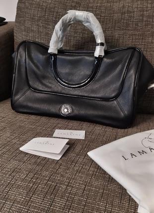 Новая сумка lamarthe paris чёрная есть нюд (тауп)100% кожа оригинал вместительная большая