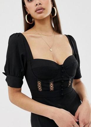 Распродажа топ блуза кофта fashion union в виде корсета с завязками на рукавах c asos