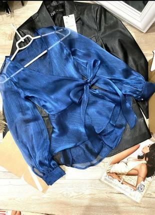 Шикарная блузка с органзы