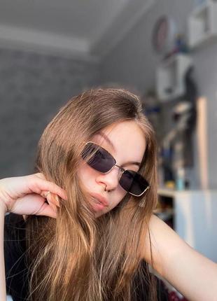 Очки винтаж окуляри солнцезащитные сонцезахисні ретро квадратные прямоугольные маленькие