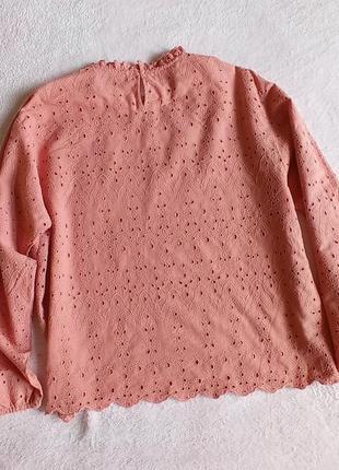 Хлопковая блуза шитье натуральная блузка zara2 фото