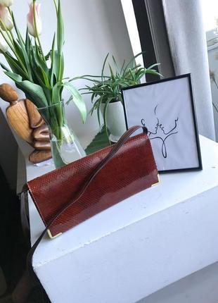 Винтажная сумочка лаковая 🔥 натуральна я кожа .очень красивая