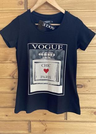 Женская турецкая футболка в размерах:s, m, l, xl