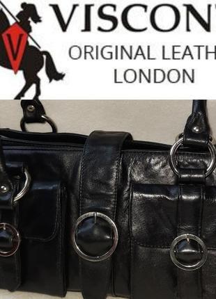 Кожанная сумка visconti london original