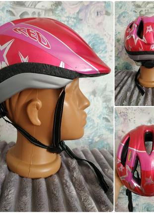 Велосипедный шлем ked im-tec с мигалкой германия объем 51-57 шолом велошлем