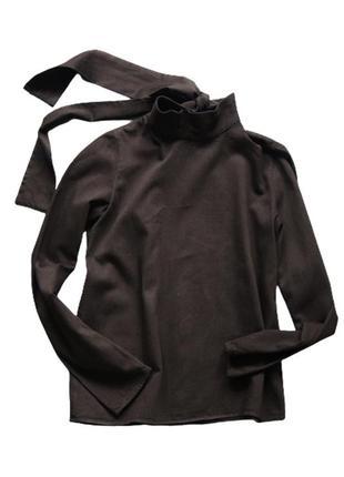 Минималистичная блузка с бантом сзади из плотного котона cos