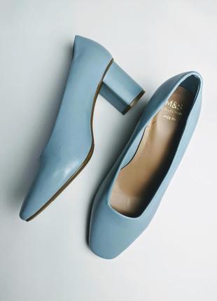 Трендовые туфли m&s квадратный носок