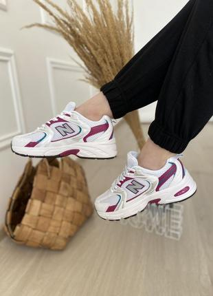Женские стильные весенние кроссовки new balance 530 purple white