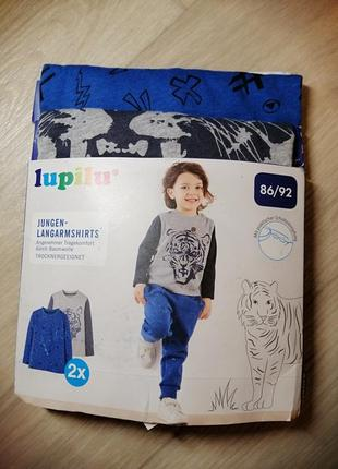 Набор регланов на мальчика 86-92 2 шт. lupilu