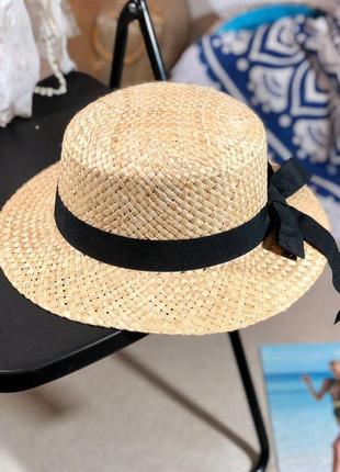 ❤канотье соломенная шляпа с бантом