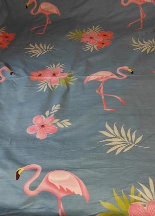 Простыни на резинке из плотной пакистанской бязи gold - фламинго, все размеры